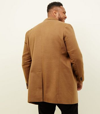 shop for Men's Plus Size Camel Overcoat New Look at Shopo