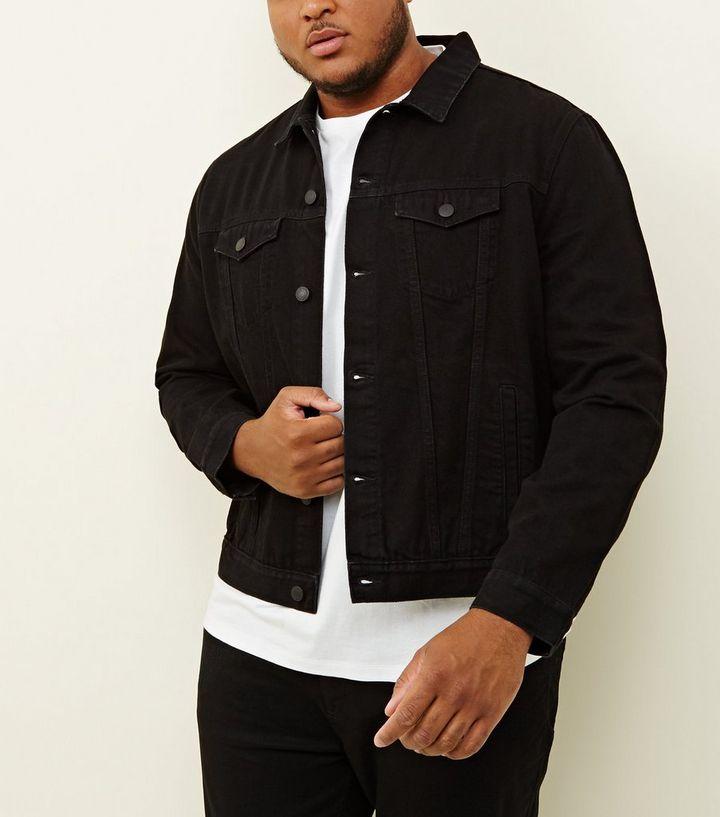 1d0c7b5691b Plus Size Black Denim Jacket. Add to Saved Items