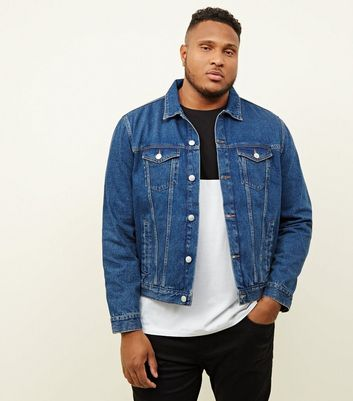 Plus Size Blue Denim Jacket
