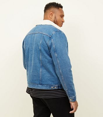 a0f4873ee Plus Size Pale Blue Washed Borg Lined Denim Jacket New Look - £17.00 -  Bullring & Grand Central
