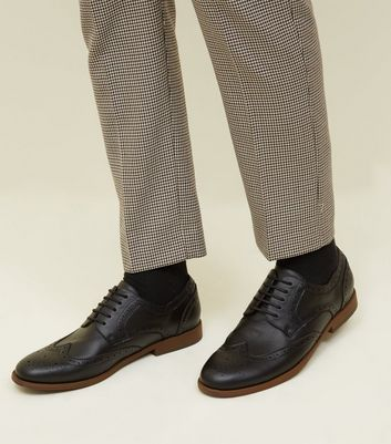 Black Lace-Up Brogues
