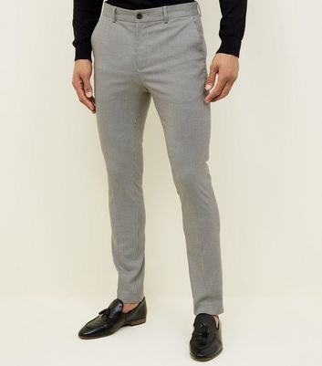 Pale Grey Mini Houndstooth Trousers