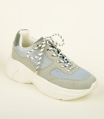 Grey Limited Edition Mesh Panel Chunky Trainers