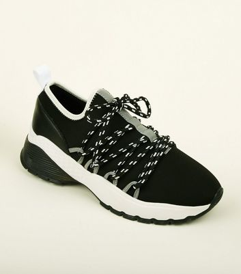 Black Limited Edition Hiker Lace Up Chunky Trainers