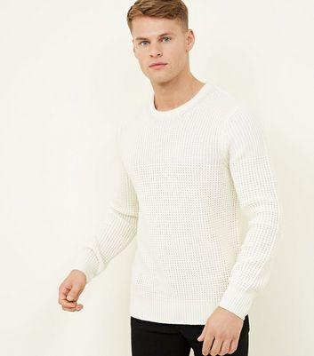 Off White Blocked Knit Jumper