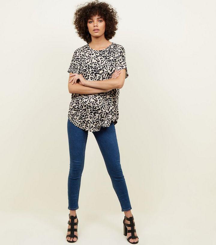 7b12449dca93 ... Brown Leopard Print Oversized T-Shirt. ×. ×. ×. Shop the look