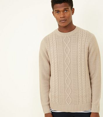 Off White Twisted Cable Knit Jumper