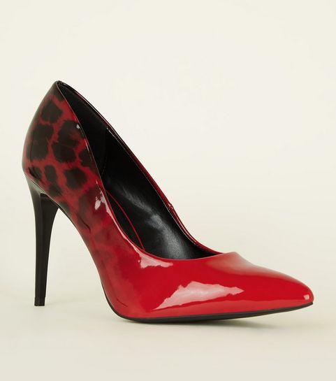 cb9f37ca14584 ... Red Patent Ombré Leopard Print Courts ...