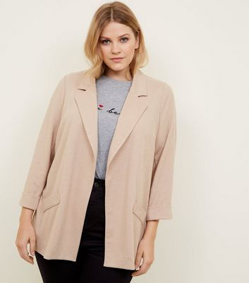 Curves Mink Cross Hatch Blazer