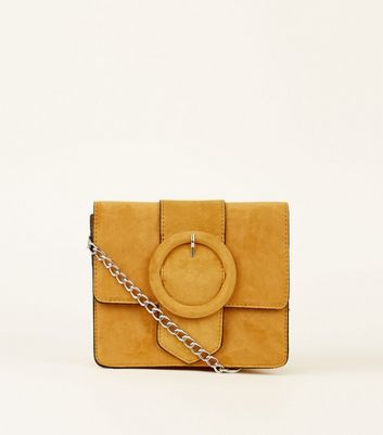 Yellow Buckle Cross Body Bag