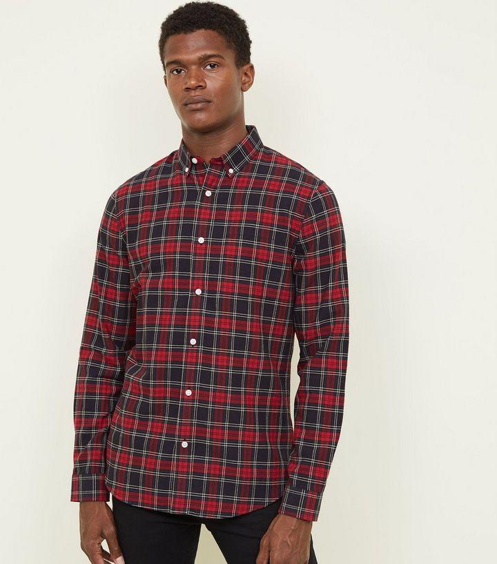 7b07582f177050 Red Tartan Check Shirt