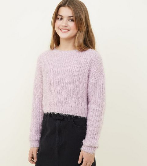 507ee51a39a Girls Lilac Fluffy Chenille Jumper · Girls Lilac Fluffy Chenille Jumper ...
