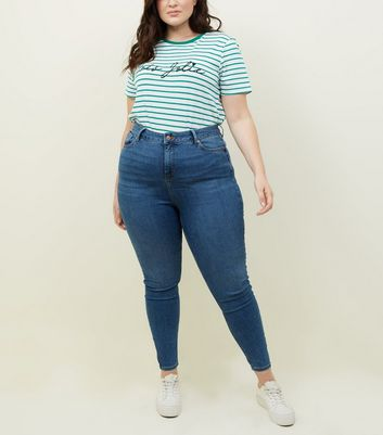Curves Blue Lift and Shape Skinny Jeans
