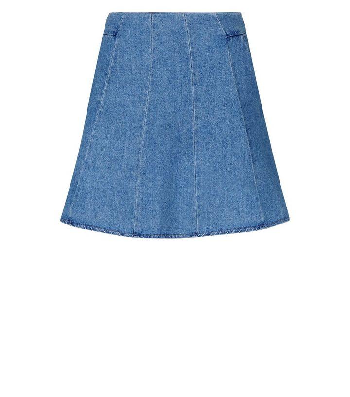 78a26fe19 Blue Lightweight Denim Skater Skirt | New Look