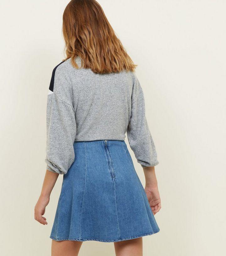 1024b3efc ... Blue Lightweight Denim Skater Skirt. ×. ×. ×. Shop the look