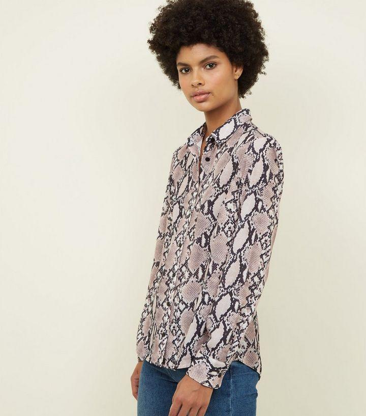 82b5182af903 Mink Snakeskin Print Shirt | New Look