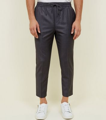 Grey Pinstripe Pull-On trousers