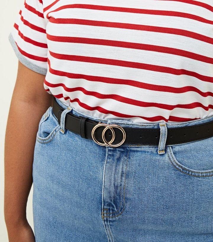 4430a1486c5 Curves Black Circle Buckle Belt | New Look