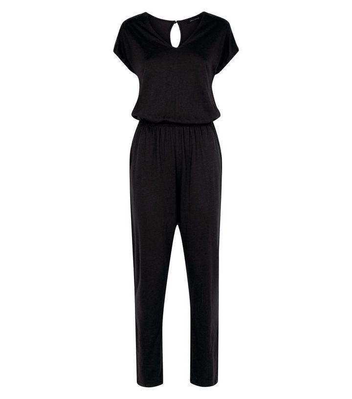 8f59e20e954 ... Black Cap Sleeve Jersey Jumpsuit. ×. ×. ×. Shop the look