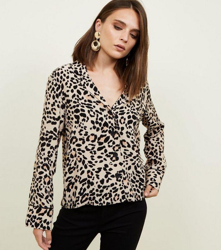 62fb841ddc Tan Leopard Print Shirt | New Look