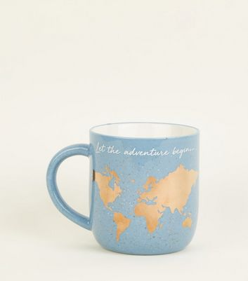 Indigo Let The Adventure Begin Map Mug