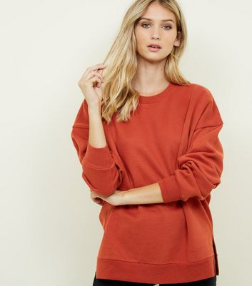Orange Oversized Sweatshirt