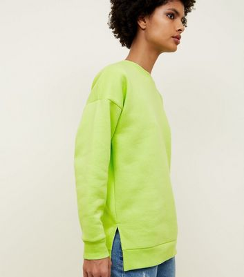 Grünes Oversize-Sweatshirt in Neon-Optik