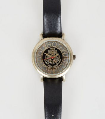 Black Harry Potter Hogwarts Cut-Out Dial Watch