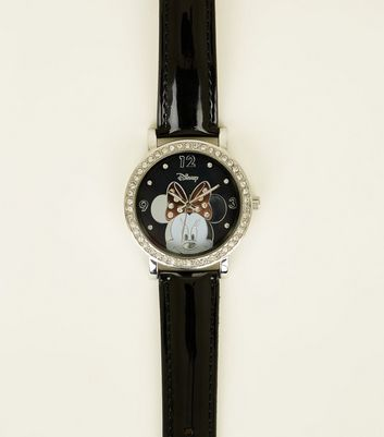 Black Minnie Mouse Diamanté Disney Watch