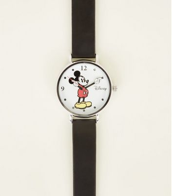 Black Disney Classic Mickey Mouse Watch