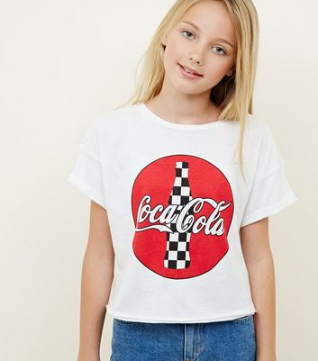 Girls White Coke Bottle Logo T-Shirt