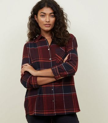 Red Check Pocket Front Shirt