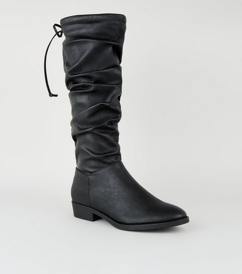 ... Black Slouch Knee High Western Boots ... cafda95726