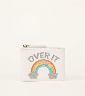 White Over It Embroidered Rainbow Purse