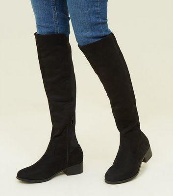 Girls Black Knee High Boots | New Look