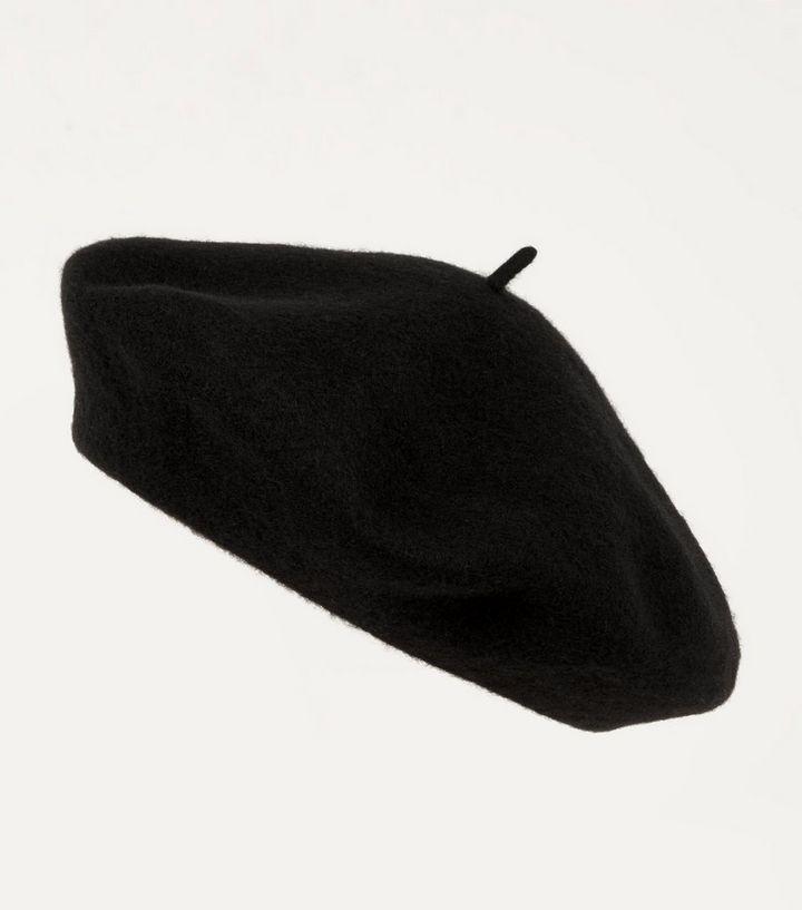 Black Wool Blend Beret  8b96d1dab15