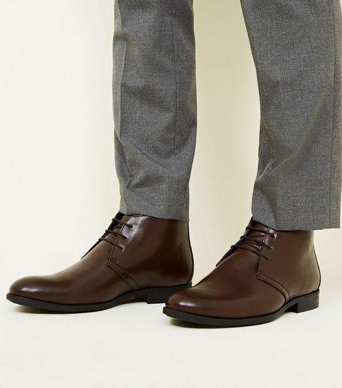 266ae787e59c ... Dark Brown Formal Chukka Boots ...