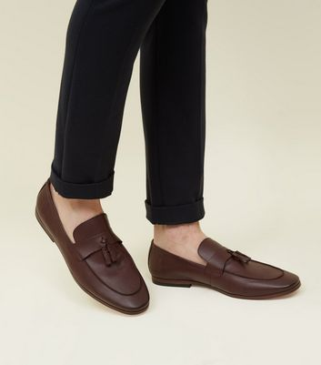 Burgundy Tassel Trim Loafers