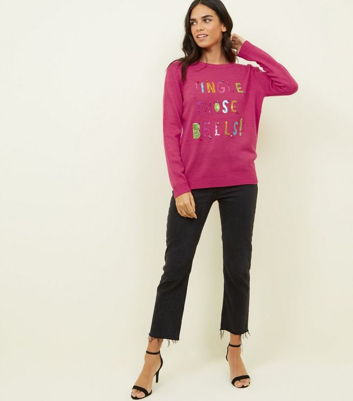 81bac269a75 ... Bright Pink Sequin Jingle Slogan Jumper. ×. ×. ×. Shop the look
