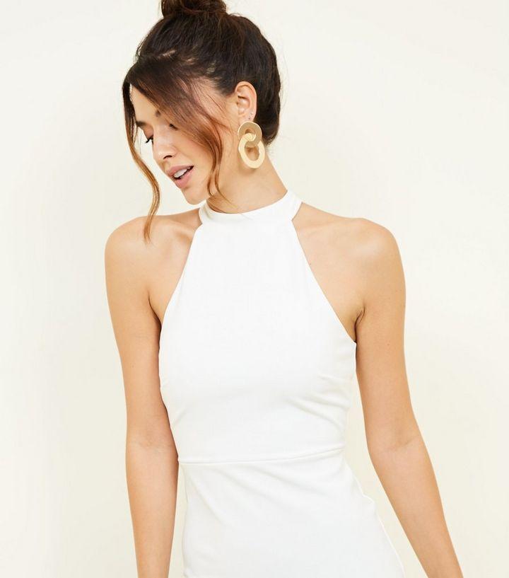 official photos 639e5 7e1f8 Weißes Kleid mit Stehkragen und Schößchensaum Für später speichern Von  gespeicherten Artikeln entfernen