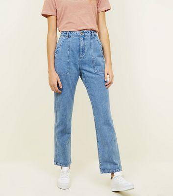 Waist High Blaue Jeans Patchwork Boyfriend Mit Look TaschenNew zGqUMpSV