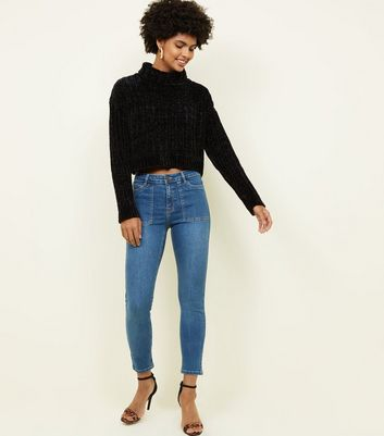 Blue Patch Pocket Skinny Jenna Jeans