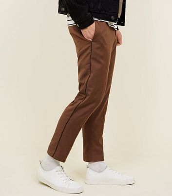 Tan Side Piped Trousers