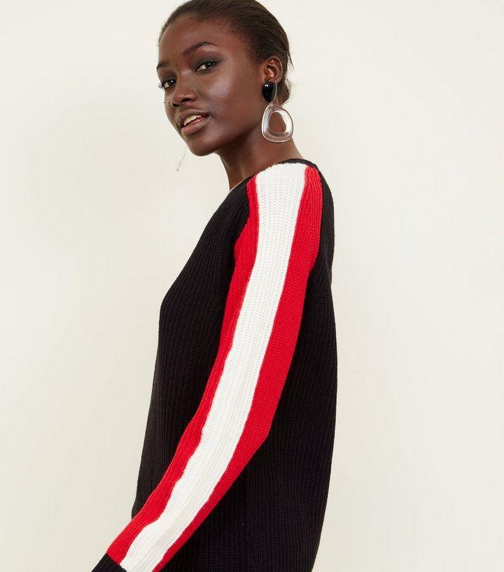 Suche nach Beamten verschiedene Arten von neueste Schwarzer Pullover mit Streifen an den Ärmeln Für später speichern Von  gespeicherten Artikeln entfernen