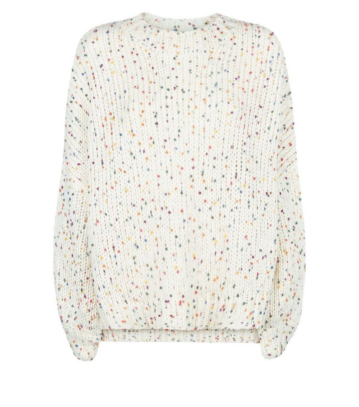 0c47eae84d0 White Nep Knit Slouchy Oversized Jumper Add to Saved Items Remove from  Saved Items