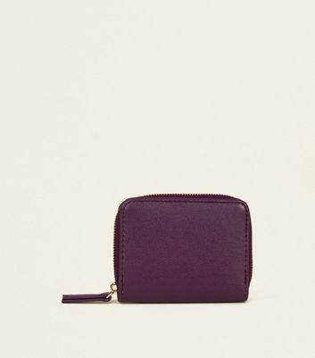 Purple Zip Around Card Holder