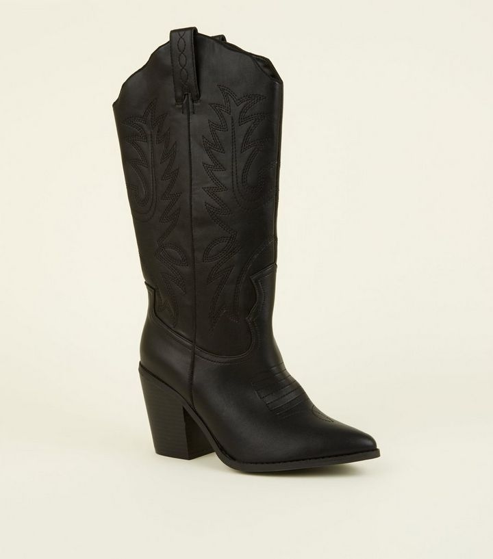 14f4c9f5e18 Black Limited Edition Knee High Western Boots Add to Saved Items Remove  from Saved Items