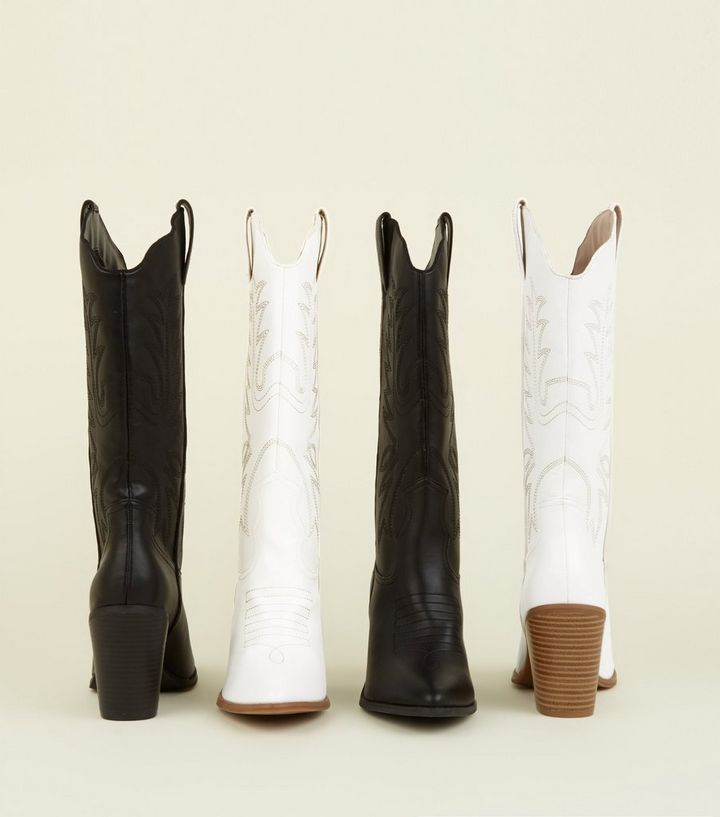 24d29a45b11 Black Limited Edition Knee High Western Boots Add to Saved Items Remove  from Saved Items