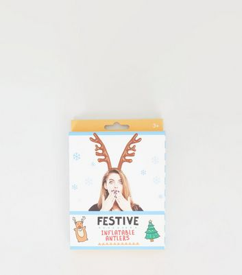 Brown Inflatable Antlers Christmas Headband