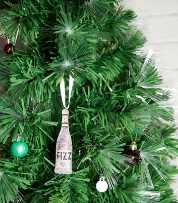 Pink Gem Prosecco Christmas Tree Decoration